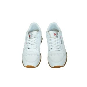 Reebok Men White Leather Classic Gum Sol Shoes 5.5